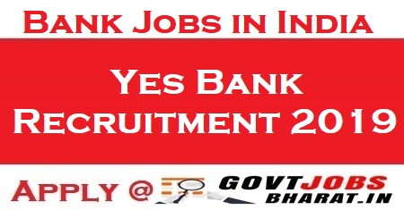 yes bank recruitment online application